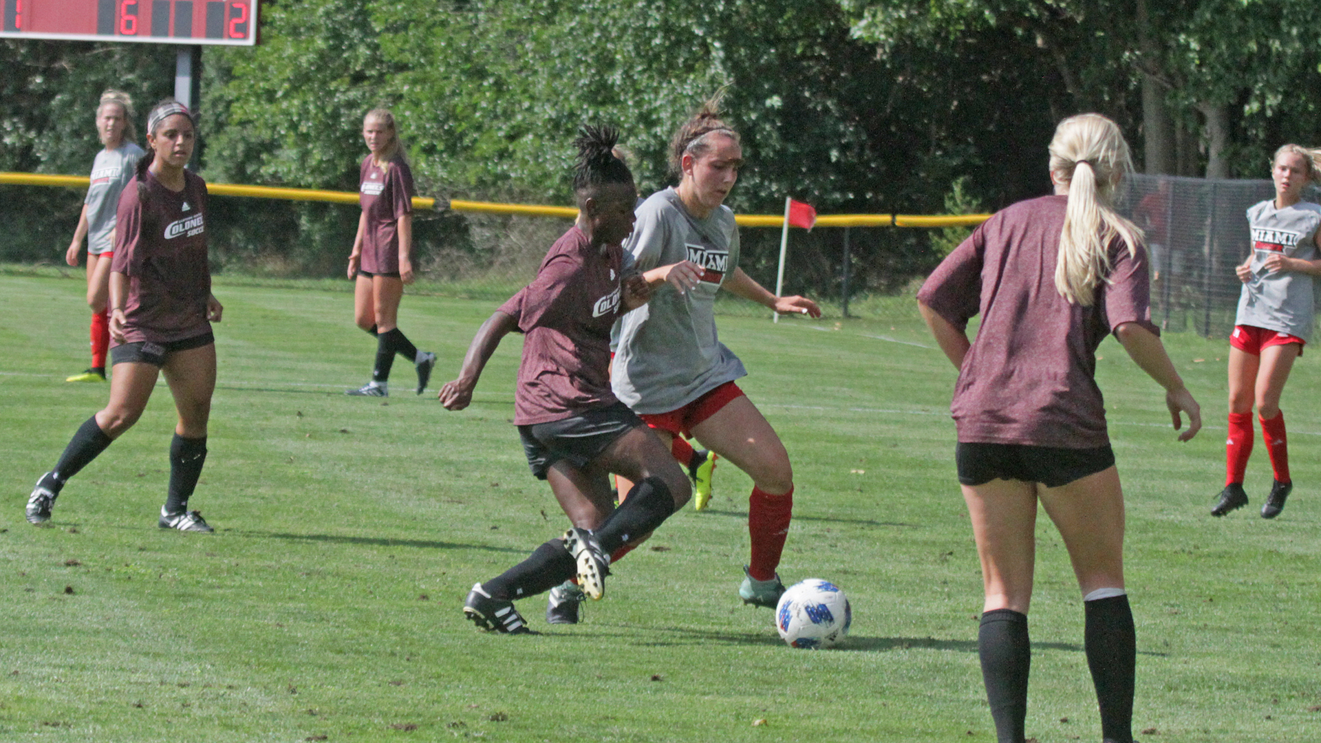 late goal dooms soccer in exhibition loss at miami eastern